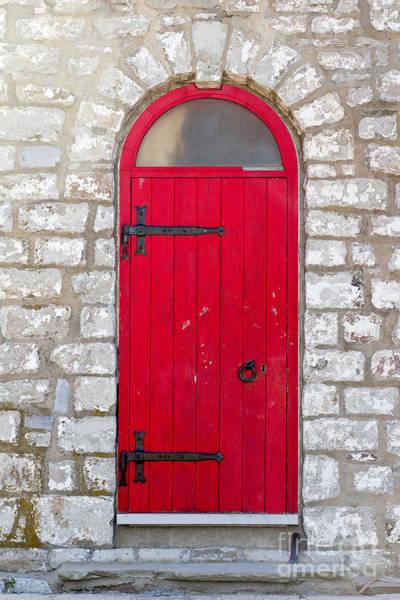 Photograph - Red Door by Les Palenik