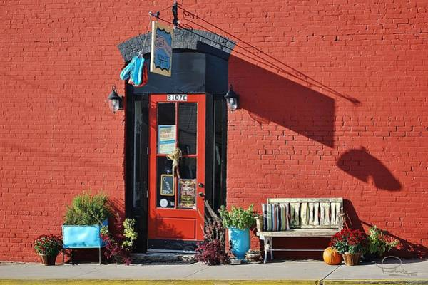 Photograph - Red Door by Ludwig Keck