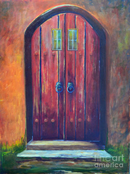 Gateway Arch Painting - Red Door by Patricia Caldwell