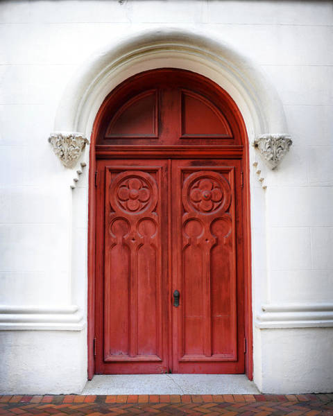 Photograph - Red Door by Val Stone Creager