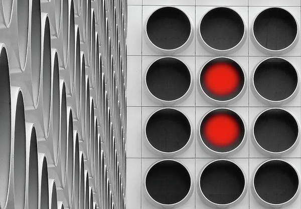 Grid Photograph - Red Dots by Henk Van Maastricht