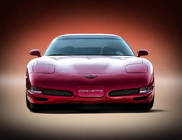 Corvette Wall Art - Digital Art - Red by Douglas Pittman