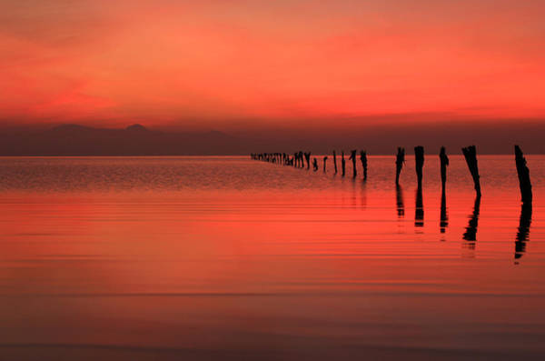 Wall Art - Photograph - Red Dusk Sky  by Johnny Adolphson