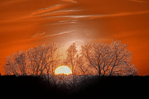 Reader Digital Art - Red Dust Sunset by Deanna Reader