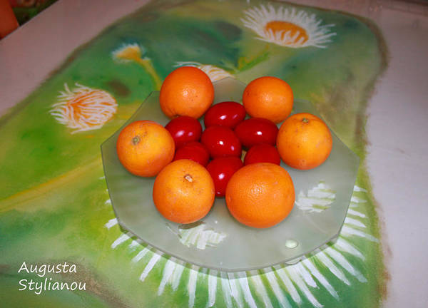 Photograph - Red Eggs And Oranges by Augusta Stylianou