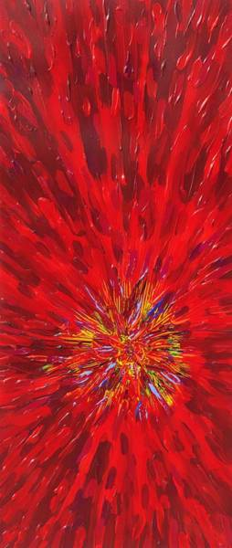Wall Art - Painting - Red Explosion 14-37 by Patrick OLeary