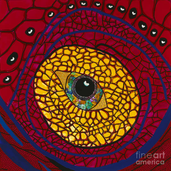 Wall Art - Painting - Red Eye by Patrick OLeary