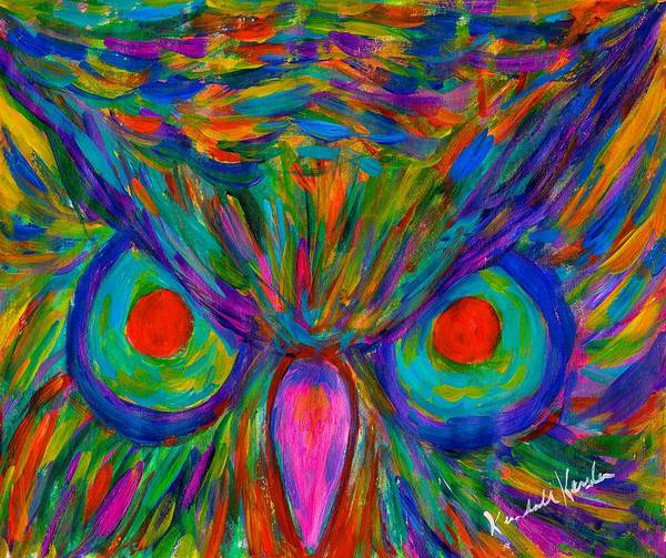 Painting - Red Eyed Hoot by Kendall Kessler