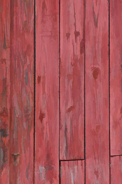 Photograph - Red Faded Barn Boards by David Letts