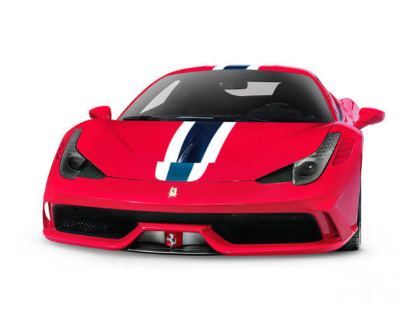 458 Photograph - Red Ferrari 458 Speciale Sports Car by Oleksiy Maksymenko