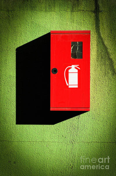 Photograph - Red Fire Extinguisher Box by Silvia Ganora