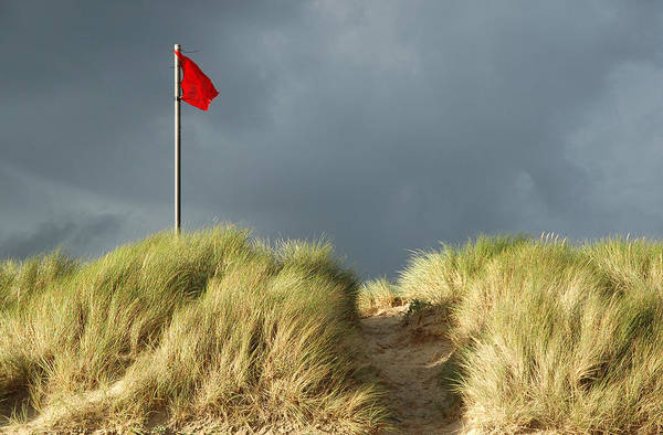 Photograph - Red Flag Warning. by Rob Huntley
