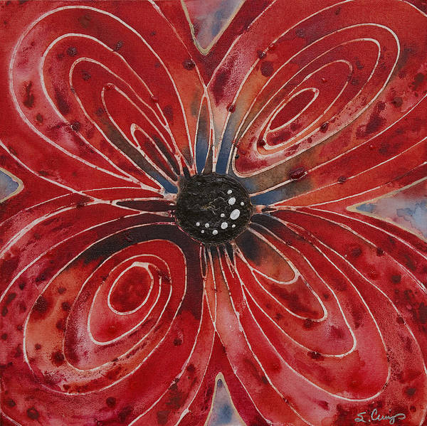 Painting - Red Flower 2 - Vibrant Red Floral Art by Sharon Cummings