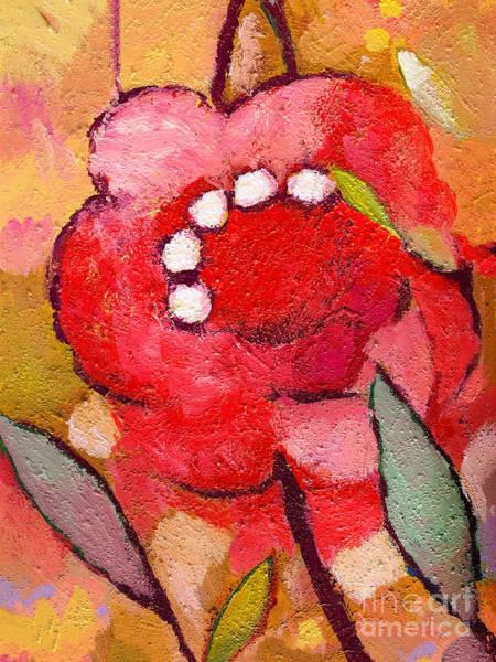 Painting - Red Flowerpower by Lutz Baar