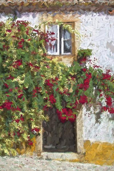 Red Flowers On Vine Art Print