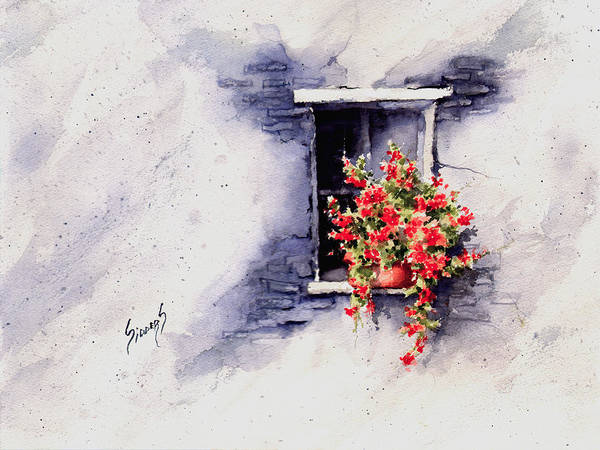 Painting - Red Flowers by Sam Sidders
