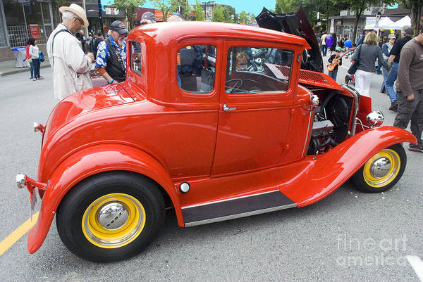 Photograph - Red Ford Coupe by Bill Thomson