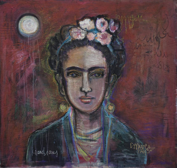 Painting - Red Frida 2013 by Laurie Maves ART