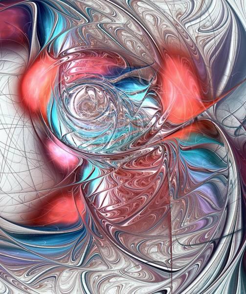 Digital Art - Red Glass Fish by Anastasiya Malakhova