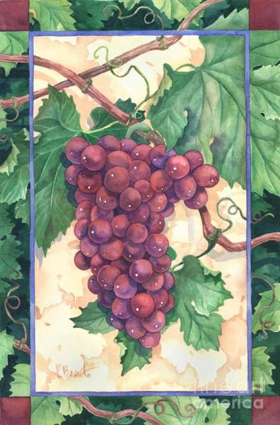 Wall Art - Painting - Red Grapes by Paul Brent