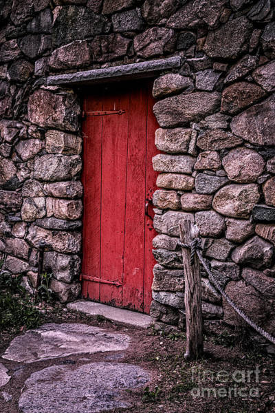Shelter Photograph - Red Grist Mill Door by Edward Fielding