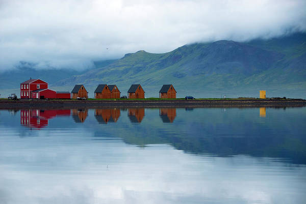 Log House Photograph - Red Guesthouse And Wooden Cabins Of by Martin Moos
