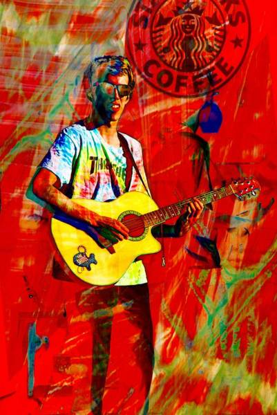 Photograph - Red Guitarman by Alice Gipson