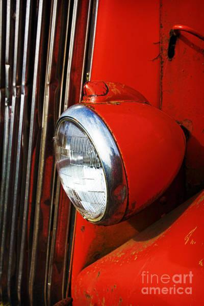 Photograph - Red Headlight by Elena Nosyreva