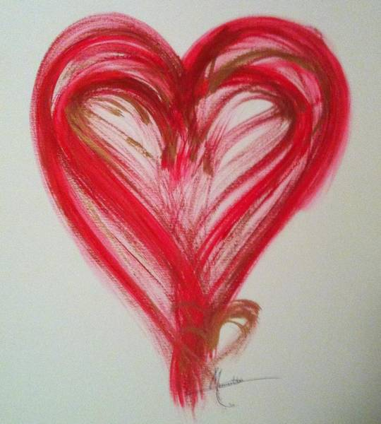 Painting - Red Heart by Marian Palucci-Lonzetta
