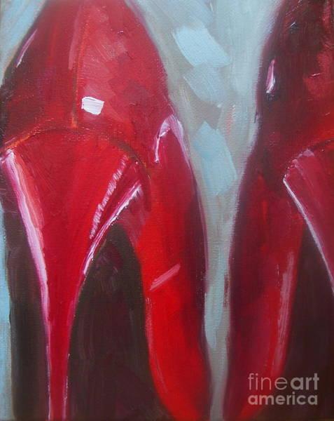 Samantha Painting - Red Heels by Samantha Black