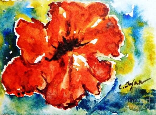 Painting - Red Hibiscus by Cristina Stefan