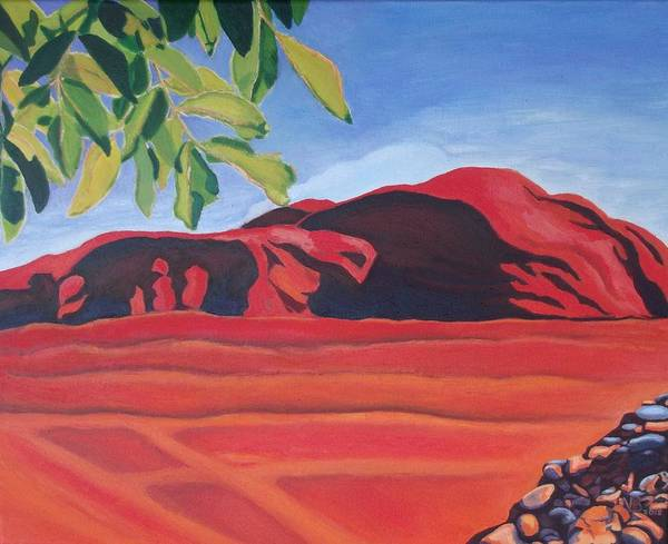 Painting - Red Hills In The Republic Of Georgia by Vera  Smith