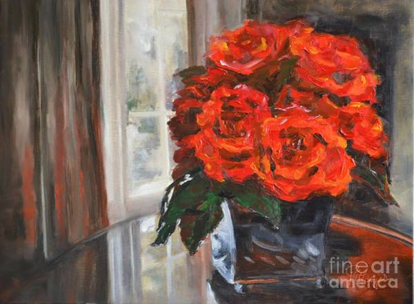 Painting - Red Hot Passion by Lori Pittenger