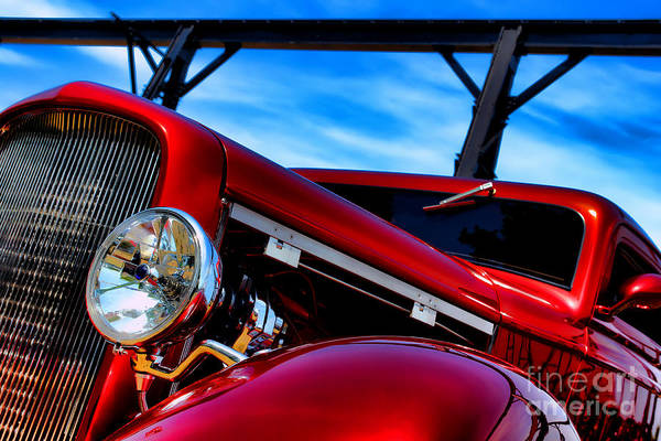 Street Rod Photograph - Red Hot Rod by Olivier Le Queinec