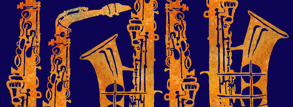 Marching Band Painting - Red Hot Sax Keys by Jenny Armitage