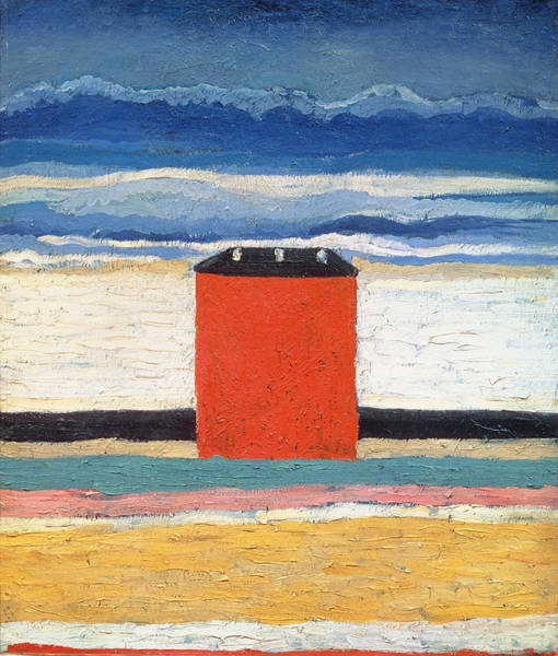 Maison Photograph - Red House, 1932 Oil On Canvas by Kazimir Severinovich Malevich