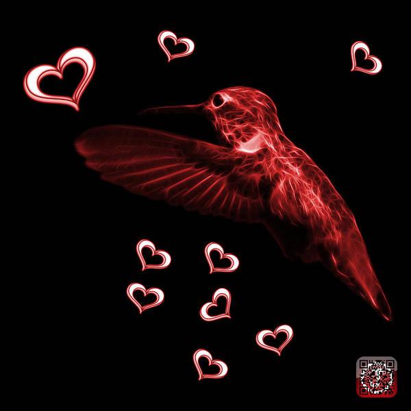 Photograph - Red Hummingbird - 2055 F M by James Ahn