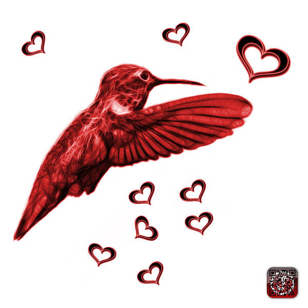 Digital Art - Red Hummingbird - 2055 F S M by James Ahn