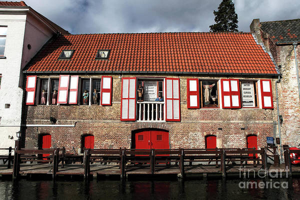Wall Art - Photograph - Red In Bruges by John Rizzuto