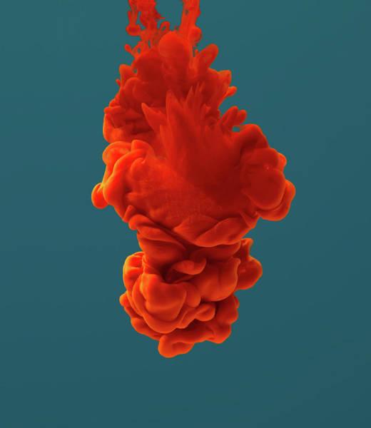 Photograph - Red Ink Dissolving In Water by Vizerskaya