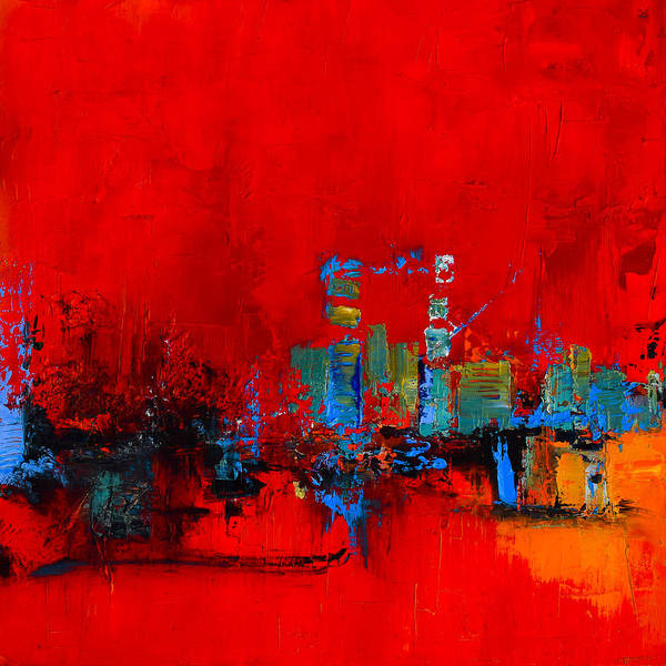 Painting - Red Inspiration by Elise Palmigiani