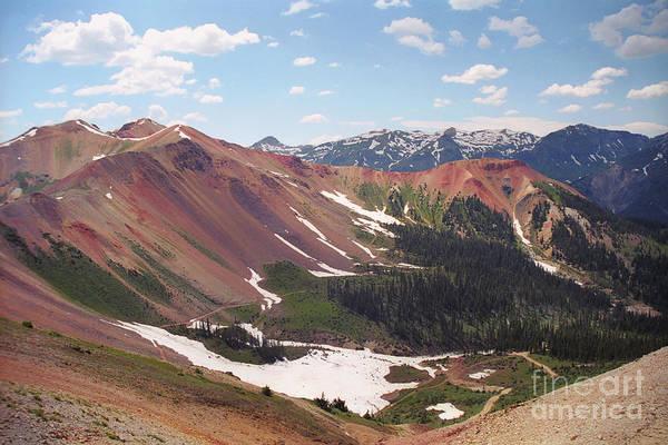 Red Iron Mountain Art Print