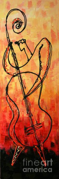 Wall Art - Painting - Red Jazz 3 by Leon Zernitsky