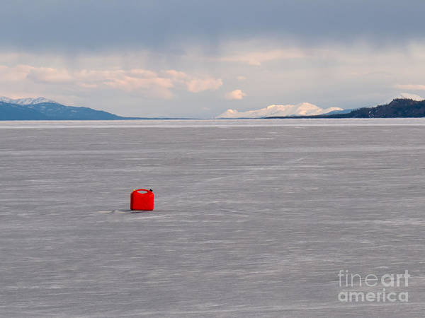Fuel Element Photograph - Red Jerrycan Lost On Frozen Lake Laberge Yukon T by Stephan Pietzko