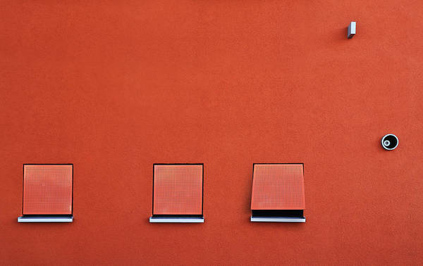 Facade Photograph - Red by Jutta Kerber