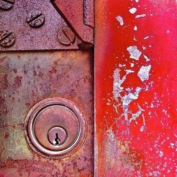 Wall Art - Photograph - Red Keyhole by Julie Gebhardt