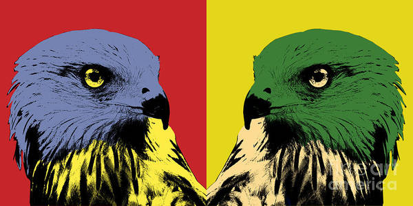Photograph - Red Kite Pop Art by Angela Doelling AD DESIGN Photo and PhotoArt