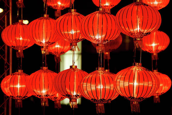Chinese New Year Photograph - Red Lanterns For Chinese New Year by Winhorse