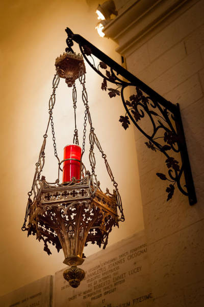 Photograph - Red Light In The Cathedral by Melinda Ledsome