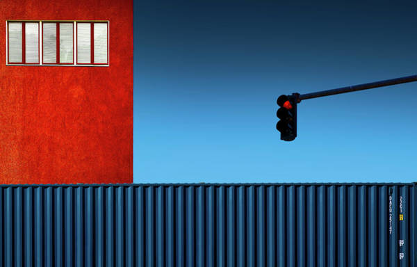 Traffic Photograph - Red Light by Inge Schuster